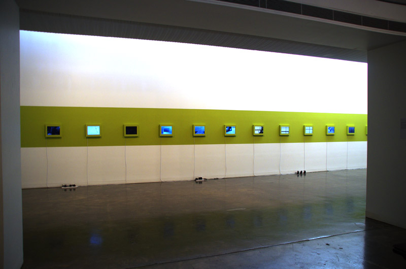 Installation view, approaching from gallery entrance